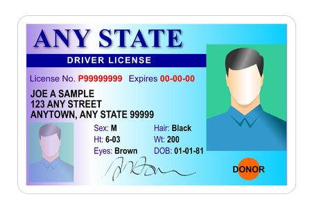 identification card: Driver license identification card Stock Photo