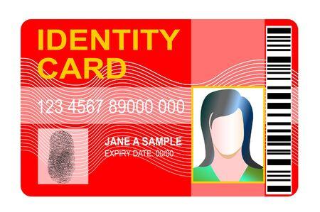 carta identit�: Carta d'identit�