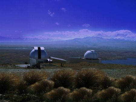 Observatory somewhere in the south island of New Zealand photo