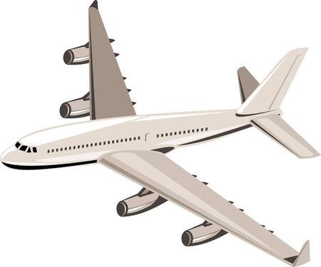 Jumbo jet Ilustración de vector