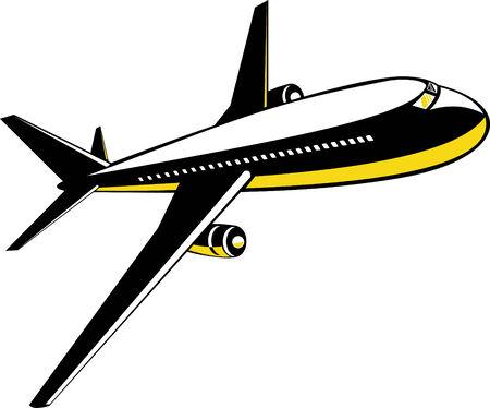 aircraft take off: Jumbo jet plane