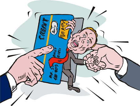 vice: Financial squeeze Illustration