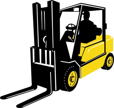 Forklift truck Stock Vector - 4448421