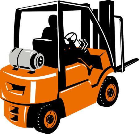 Forklift truck Stock Vector - 4448415