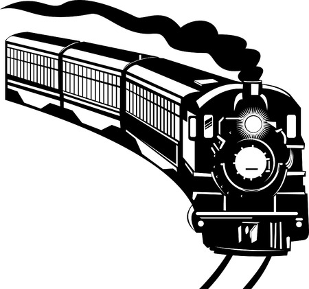 passenger: Steam train Illustration