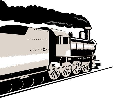 eisenbahn: Lokomotive  Illustration