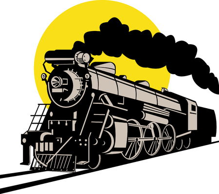 Treno a vapore Vettoriali