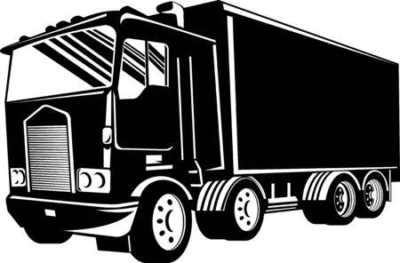 forwarding: Truckand trailer Illustration