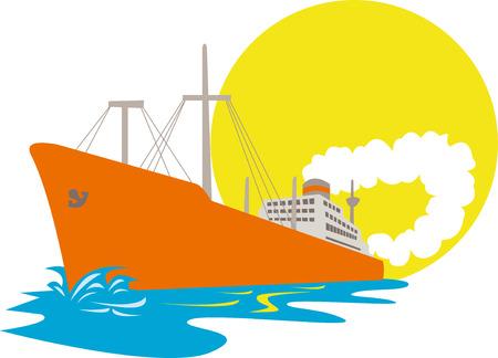 freighter: Cargo ship Illustration