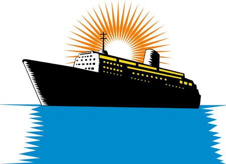 Ocean liner Vector
