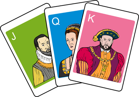 viii: Playing cards wth famous persons