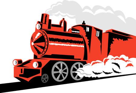 eisenbahn: Dampfzug Illustration
