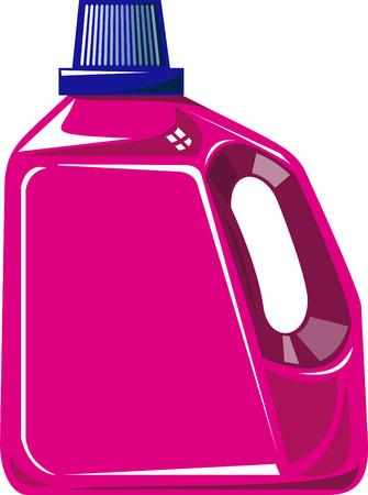 Laundry detergent bottle Illustration