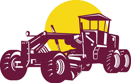 Road grader Stock Vector - 4519276