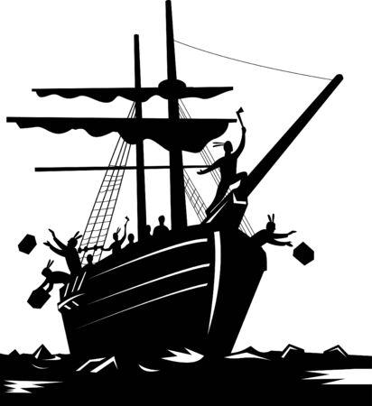 braqueur: Boston Tea Party du 16 D�cembre, 1773