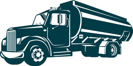 rear wheel: Fuel tanker truck Illustration