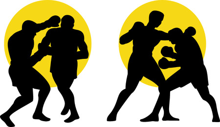 boksör: Boxer silhouettes