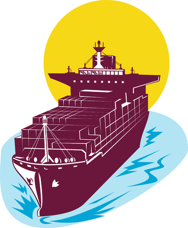 stern: Container ship Illustration