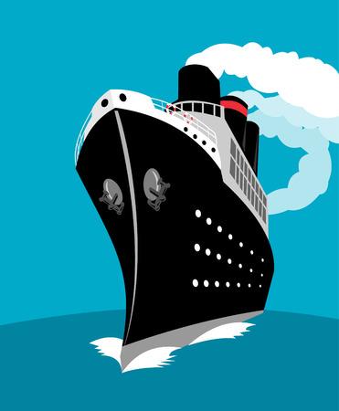 timon de barco: Transatl�ntico Vectores