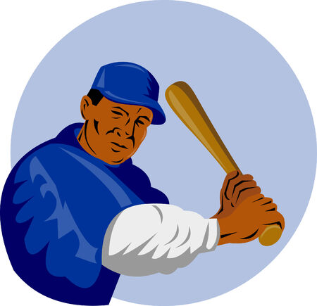 batter: Baseball batter striking