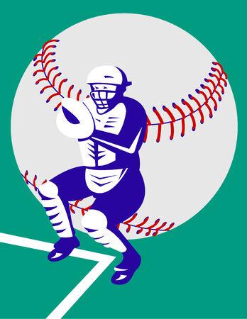 catcher baseball: Baseball catcher