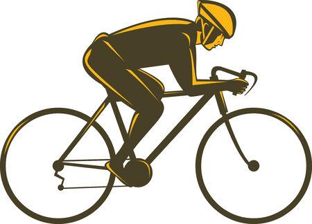 bike vector: Ciclista Vectores