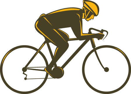 cyclist silhouette: Cyclist