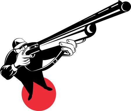 fusil de chasse: Hunter visant un fusil