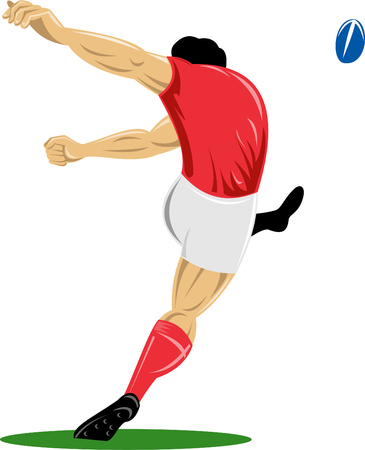 rugby player: Rugby player kicking ball