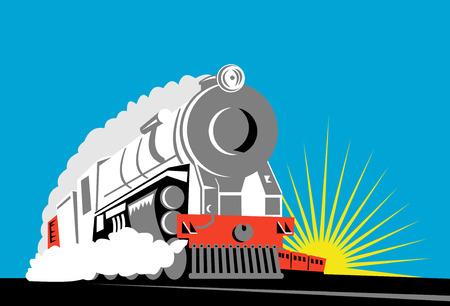 railroad track: Train