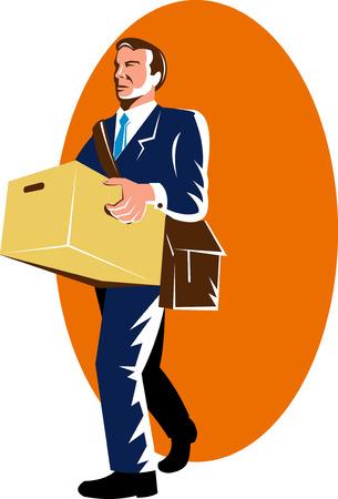 carrying box: Man carrying a carton box
