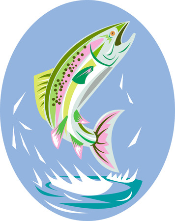 Rainbow trout Stock Vector - 4969205
