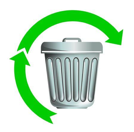 Símbolo de reciclaje de basura Foto de archivo - 4969211