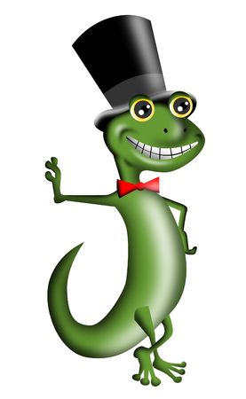 tophat: Gecko with Tophat