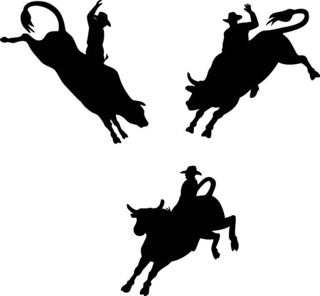 rodeo americano: Rodeo Cowboy toro a caballo