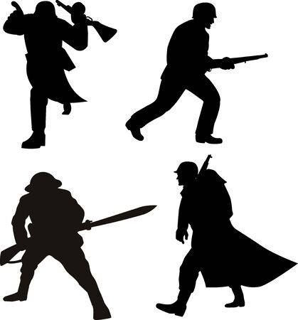 silhouette soldat: Militaire soldat silhouette