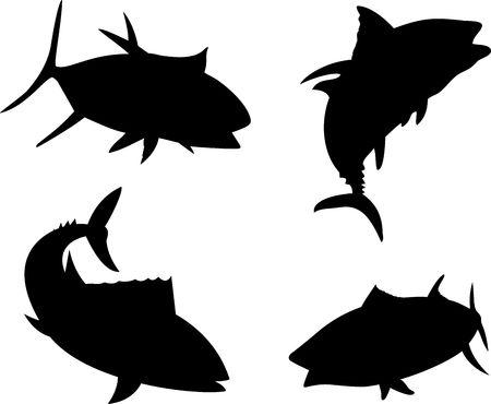 Yellow fin tuna silhouette Stock Photo - 4988638