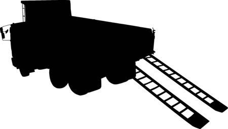 forwarding: Truck silhouette