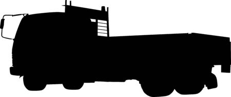 forwarding: Silhouette of a truck