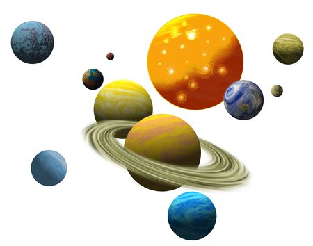solar system: The solar system of planets Stock Photo