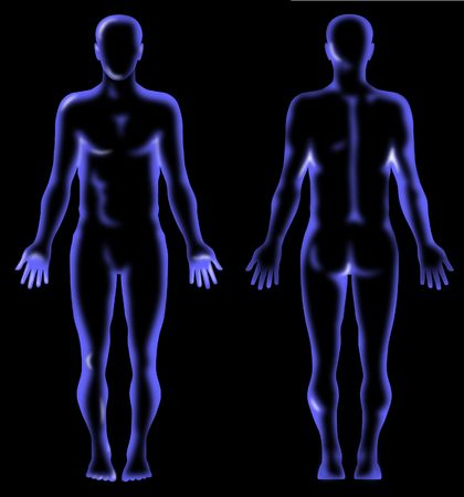 fullbody: Male Human anatomy x-ray vision