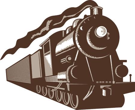 Stem train locomotive Stock Vector - 5502113