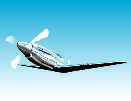avion de chasse: Avion de chasse de guerre deux Illustration