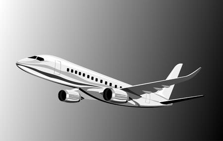 taking off: Plano de Jumbo jet despegando  Vectores