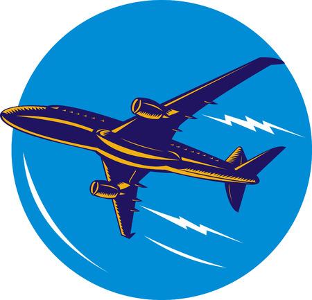 jumbo: Jumbo jet plane in flight