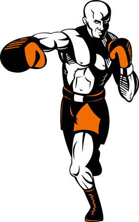 stance: Boxer in fighting stance