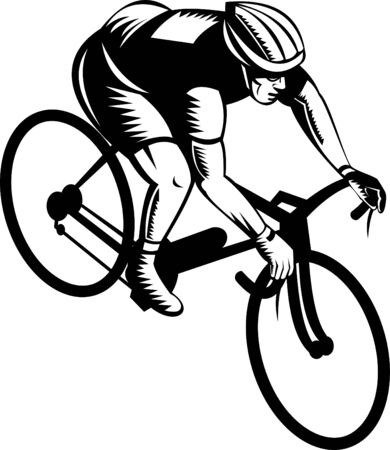 Cyclist racing Stock Vector - 5502121