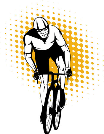Cyclist racing Vector