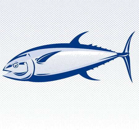 tuna: blue fin tuna Illustration