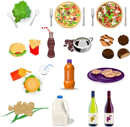 Food and drink set collection Stock Photo - 5509103
